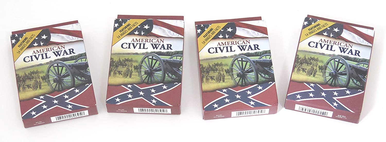 Travelers Souvenir Playing Cards 4 Deck Pack Civil War