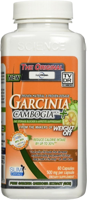 Slim Centials Super Citrimax Garcinia Cambogia Fat Storage Block and Appetite Suppressant (60-Capsules)