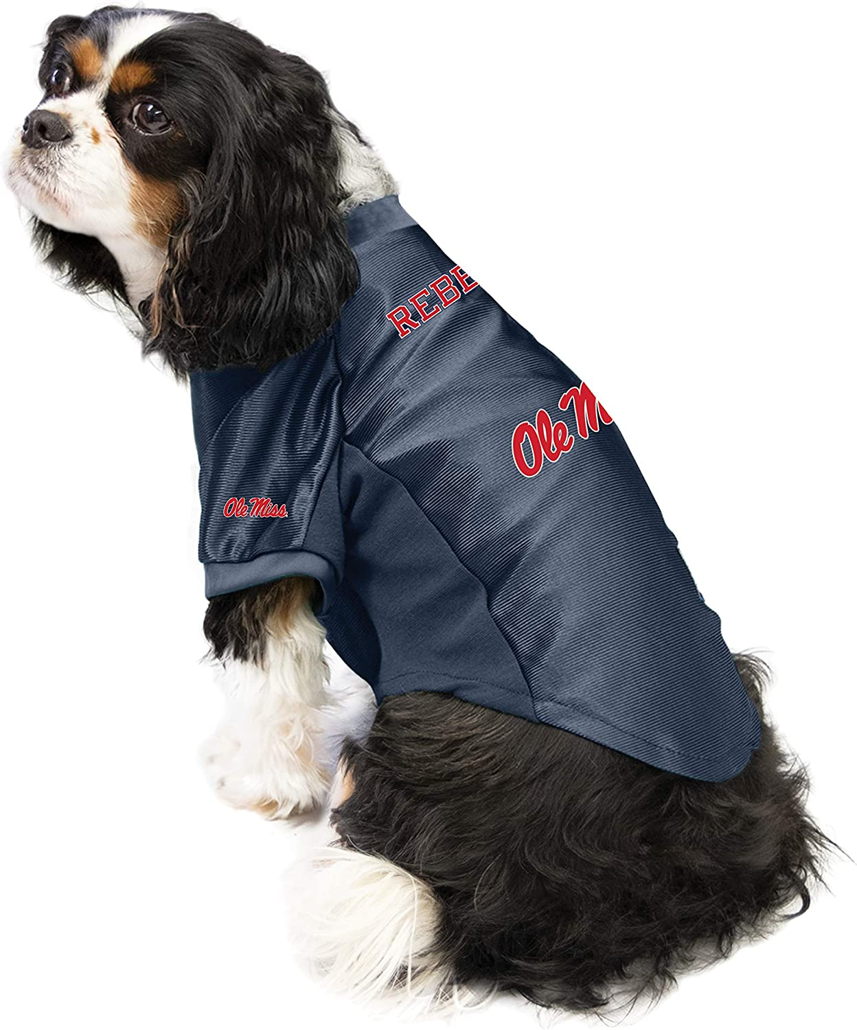 Large NCAA Ole Miss Rebels Pet Stretch Jersey