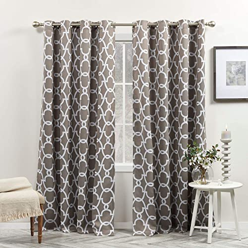Exclusive Home Curtains Gates Sateen Blackout Thermal Window Curtain Panel Pair