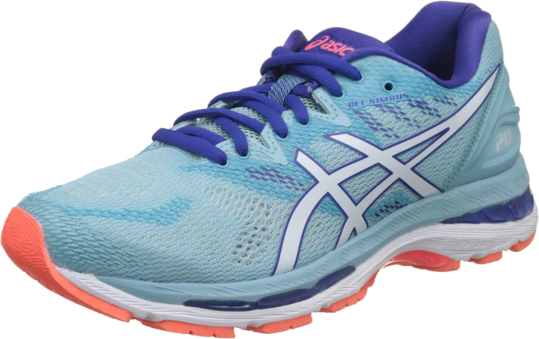 Asics Gel-Nimbus 20, Zapatillas de Running para Mujer, Turquesa (Porcelain Blue/Whiteasics/Blue 1401), 44.5 EU: Amazon.es: Zapatos y complementos