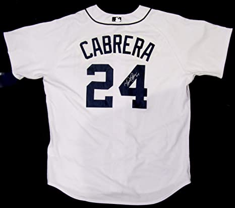 a8b2d081b47 Image Unavailable. Image not available for. Color  MIGUEL CABRERA  AUTOGRAPHED Hand SIGNED Authentic DETROIT TIGERS Home Jersey ...