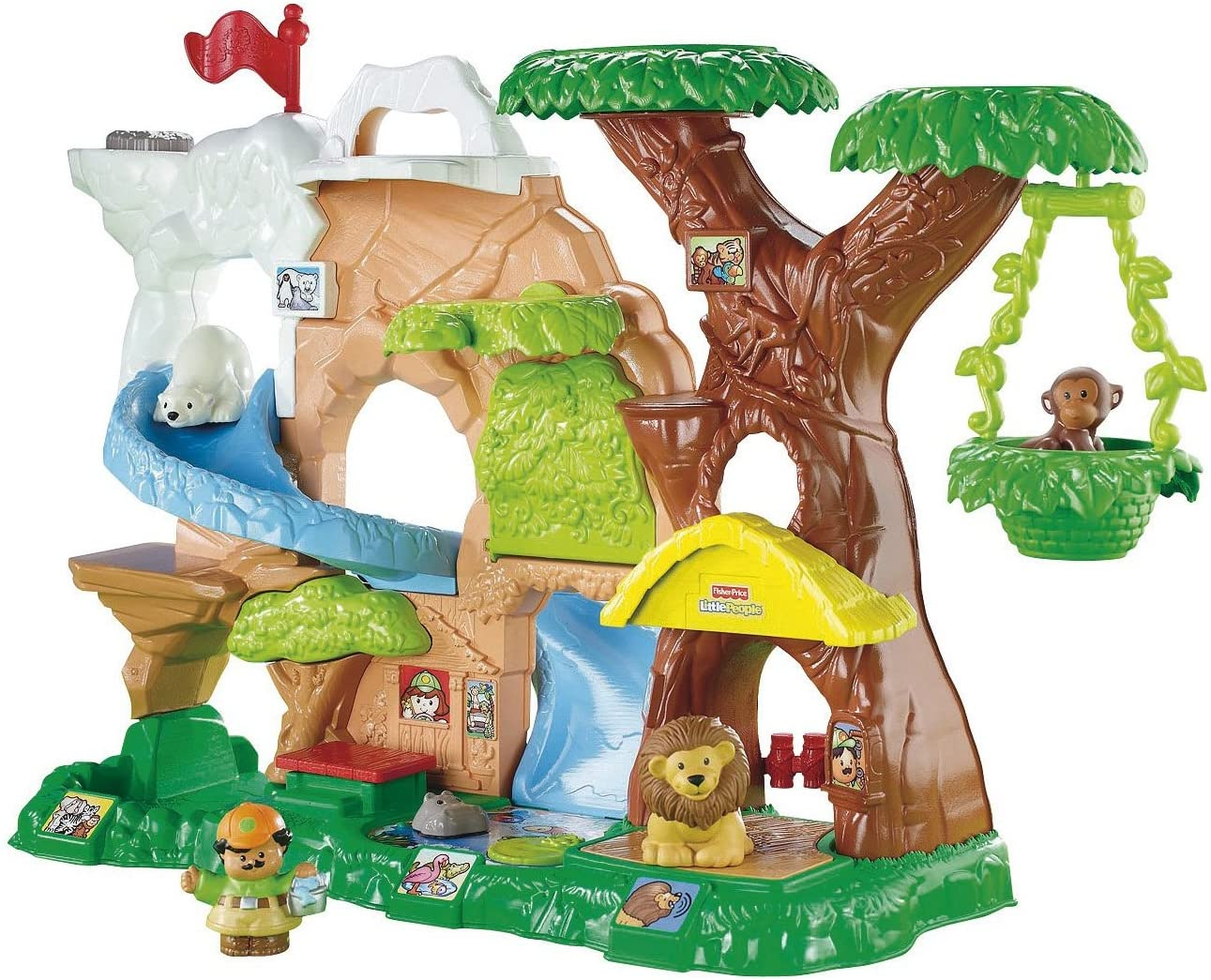 Amazon Com Fisher Price Little People Zoo Talkers Animal Sounds Zoo Toys Games