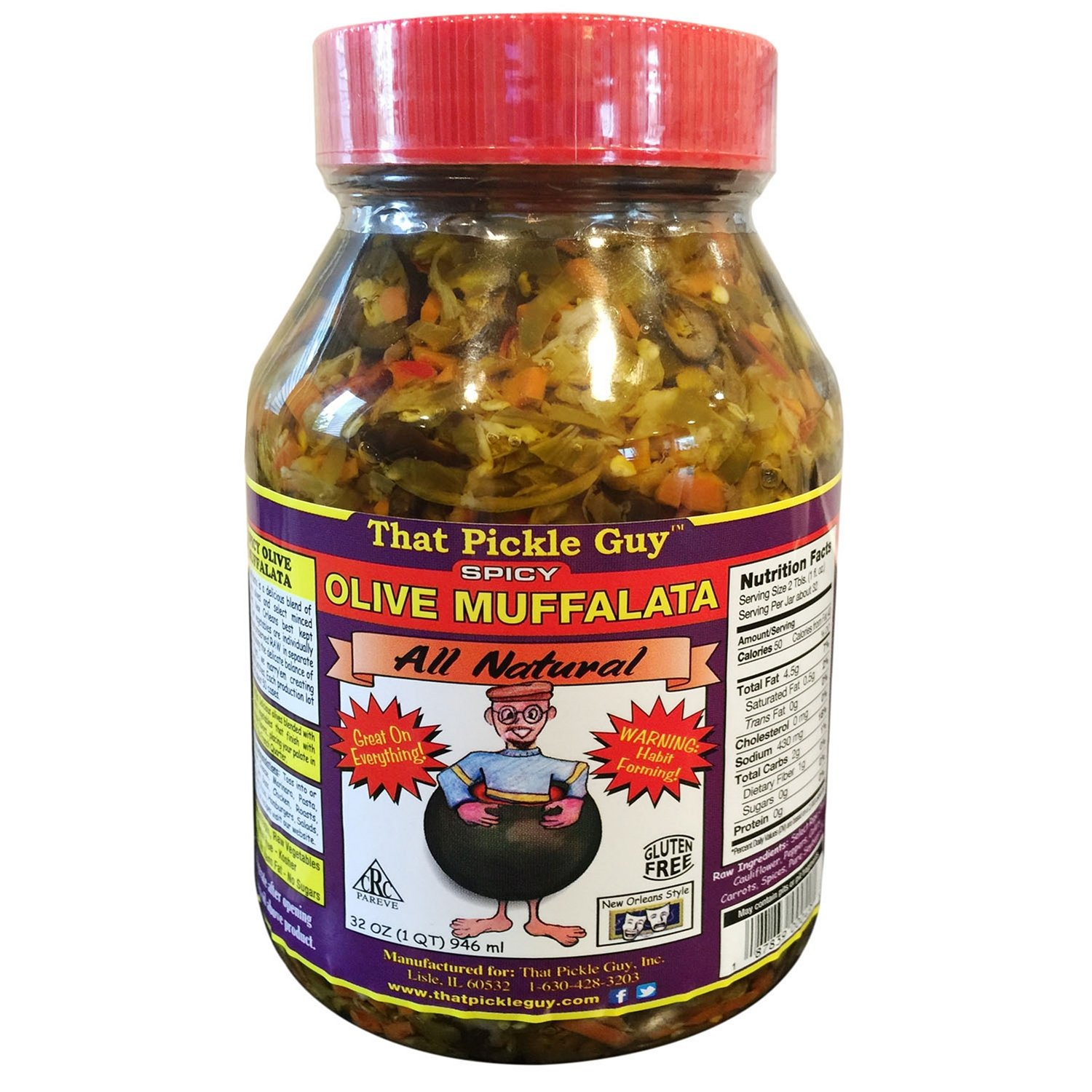 That Pickle Guy Spicy Olive Muffalata Mix, 32 Oz