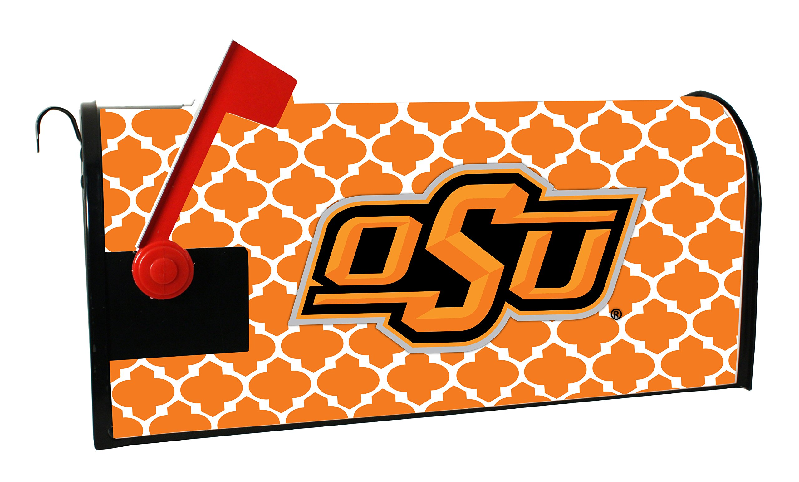 OKLAHOMA STATE COWBOYS MAILBOX COVER-OKLAHOMA STATE UNIVERSITY MAGNETIC MAIL BOX COVER-MOROCCAN DESIGN