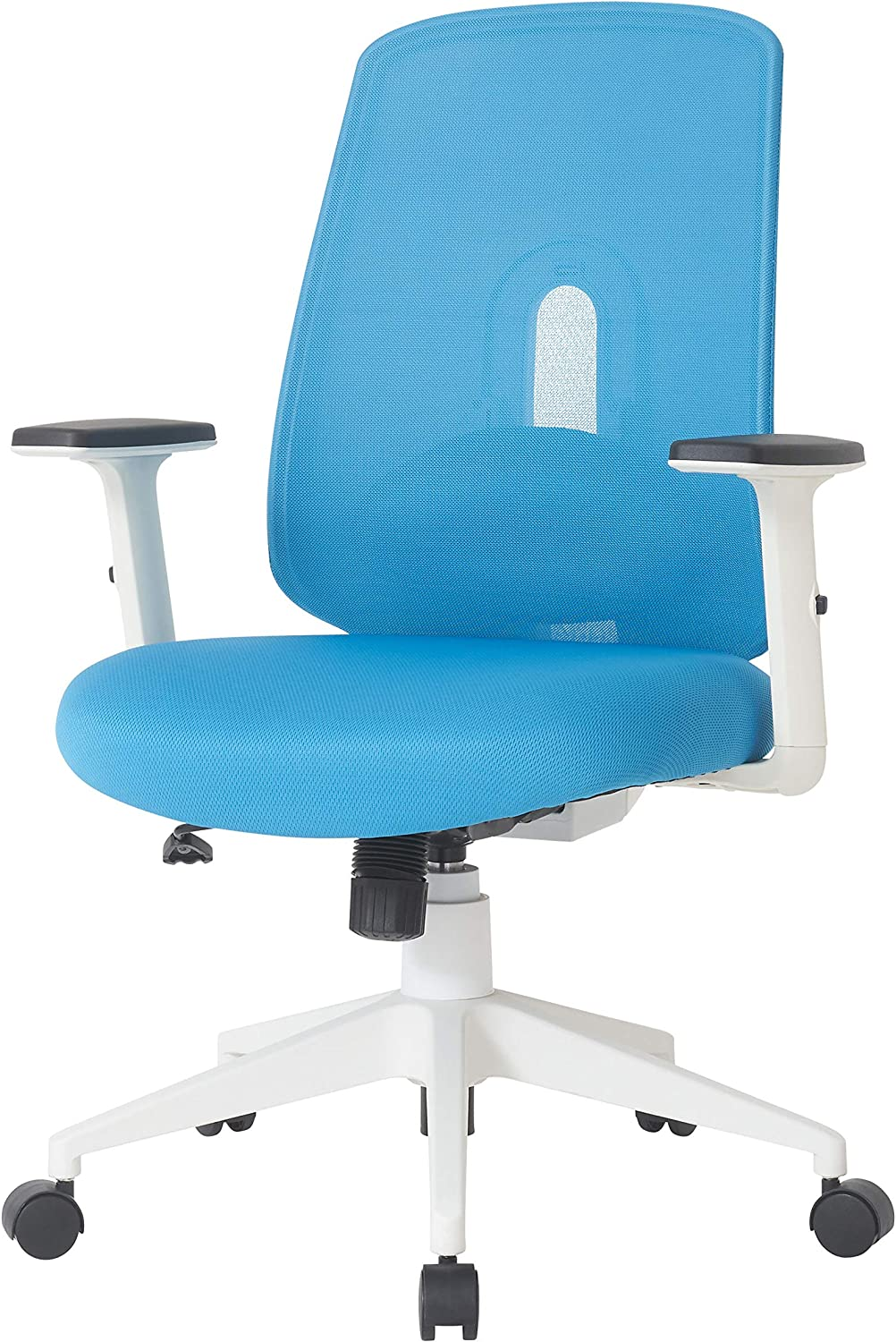 NOUHAUS Palette Ergonomic Office Chair Comfortable Swivel Computer Desk Chair, Lumbar Adjust Rolling Chair. (Blue)