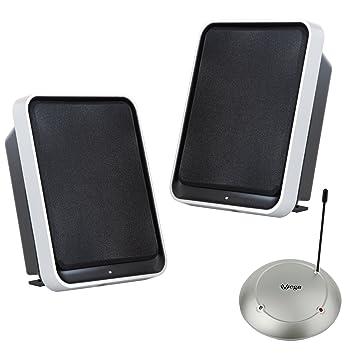 Vega Enceinte Stereo Sans Fil Pour Salle De Sejour Et Terrasse Avec BassBoost Sinus 2 X