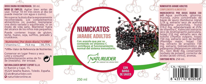 Naturlíder Numckatos Jarabe Adultos para Aparato Respiratorio - 250 ml: Amazon.es: Salud y cuidado personal