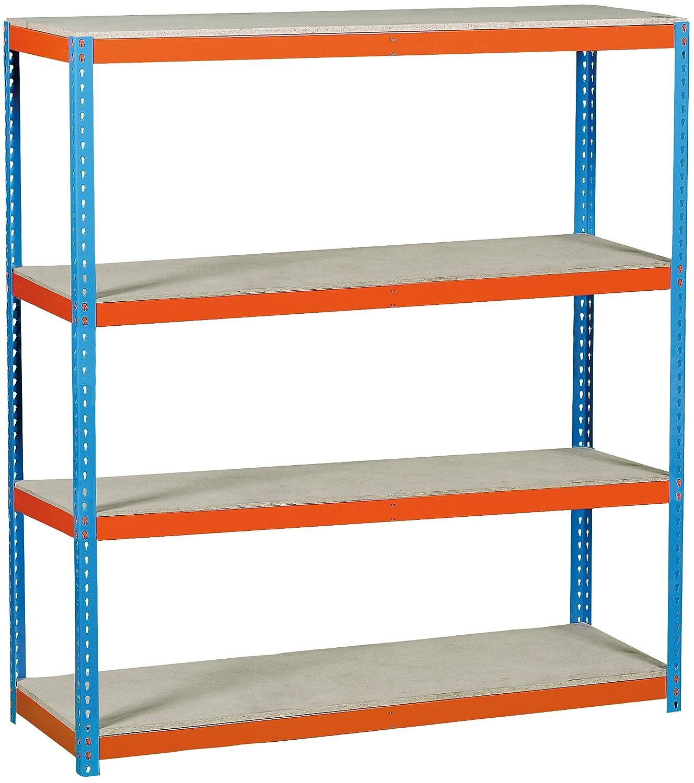 Simonrack simonforte 1509–4PLYWOOD Kit di scaffale blu/arancione/legno 458100045201598