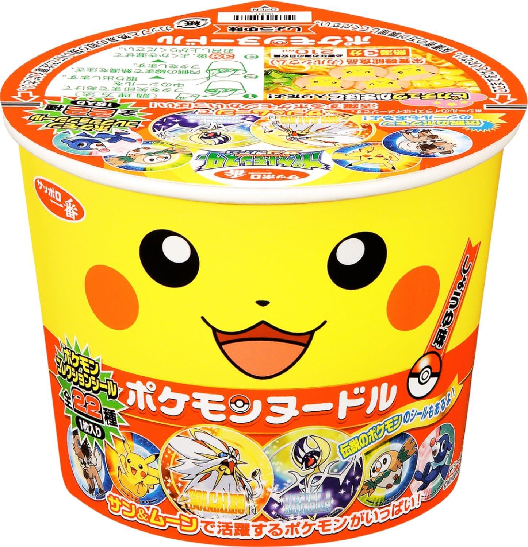 Fideos con salsa de soja Pokemon Pikachu 38 Gr