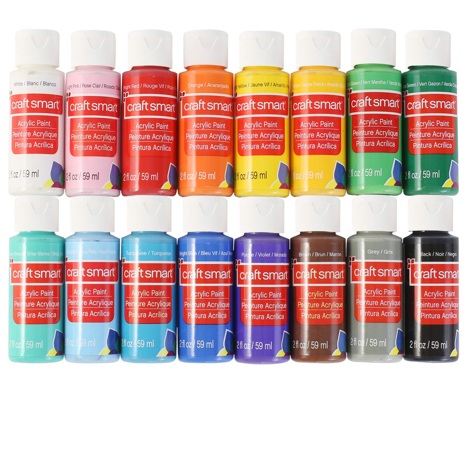 Craft Smart Acrylic Paint Value Pack, 16 Colors by Craftsmart
