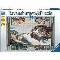 Ravensburger, Rompecabezas Puzzle Miguel Angel, La Creación de Adan, 5000 Piezas