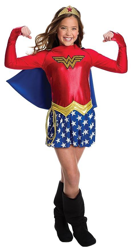 f6f415dceac Rubie's Costume Girls DC Comics Wonder Costume, Medium, Multicolor
