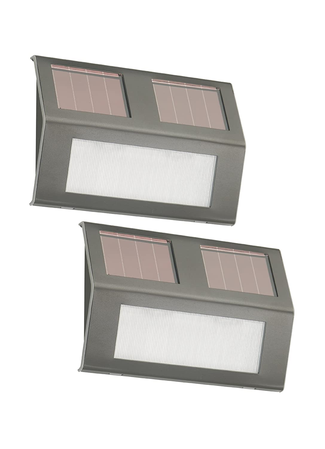nature power21060 solar powered led bronze step lights 2pack outdoor step lights amazoncom