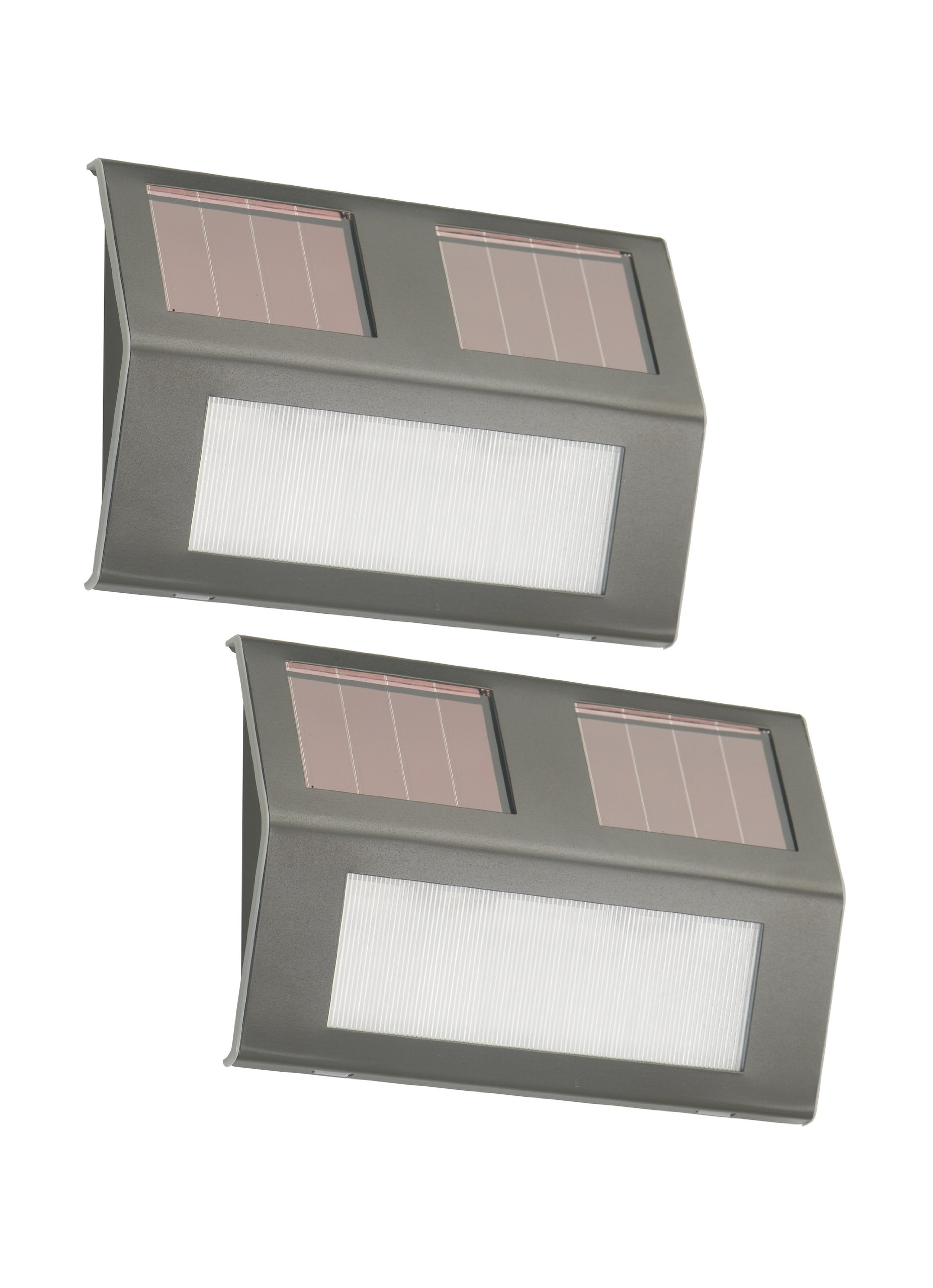 Nature Power21060 Solar Powered LED Bronze Step Lights, 2-Pack