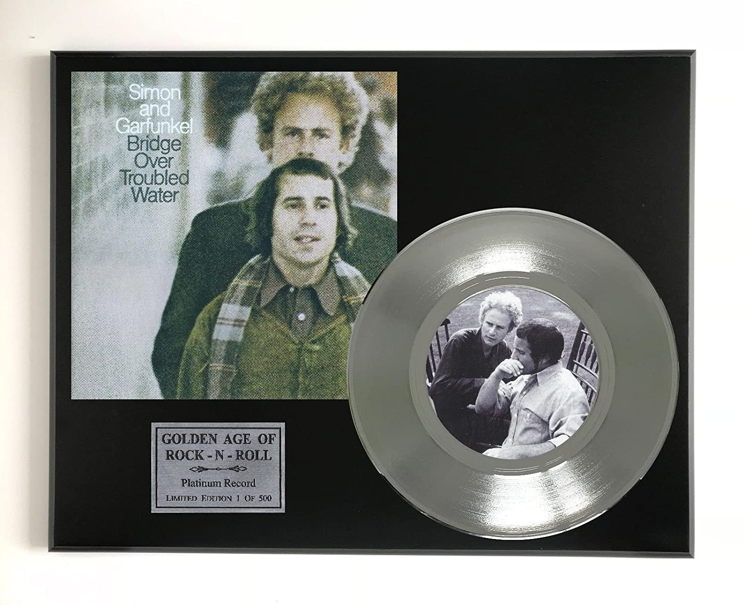 Simon And Garfunkel - Troubled Water Ltd Edition Platinum 45 Display M4
