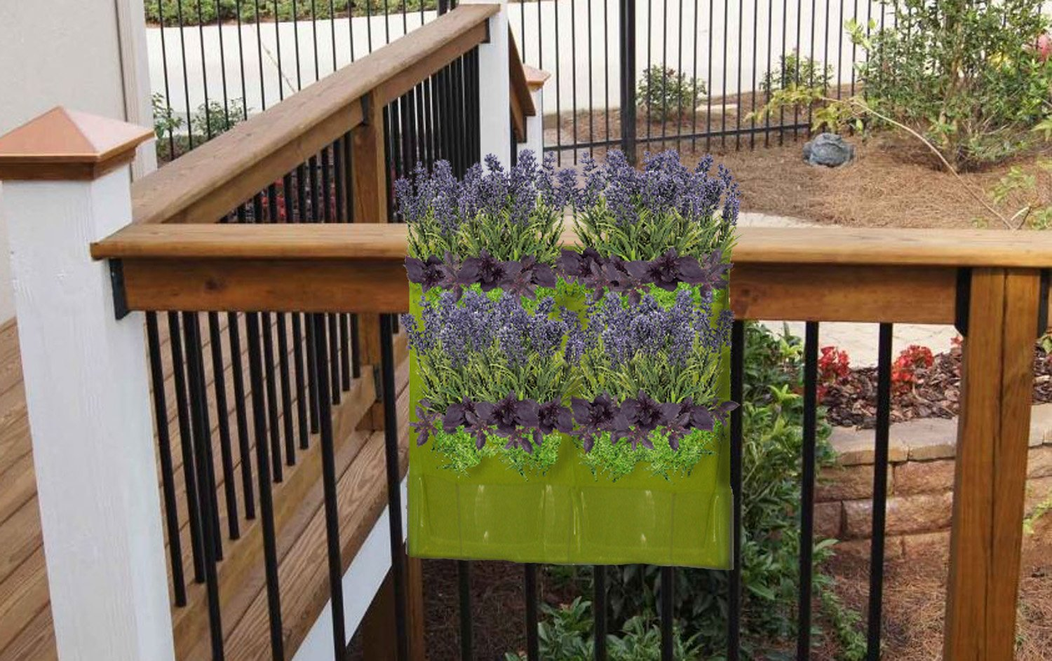 Vertical hanging planter wall garden herb kit indoor for Garden decking kits on ebay