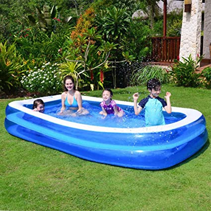 Huinsh Inflatable Swimming Pools Above Ground Blow Up Pools For Kids And Adults Big Pools For Backyard Garden Outside 120 72 20 Family Pool Garden Outdoor