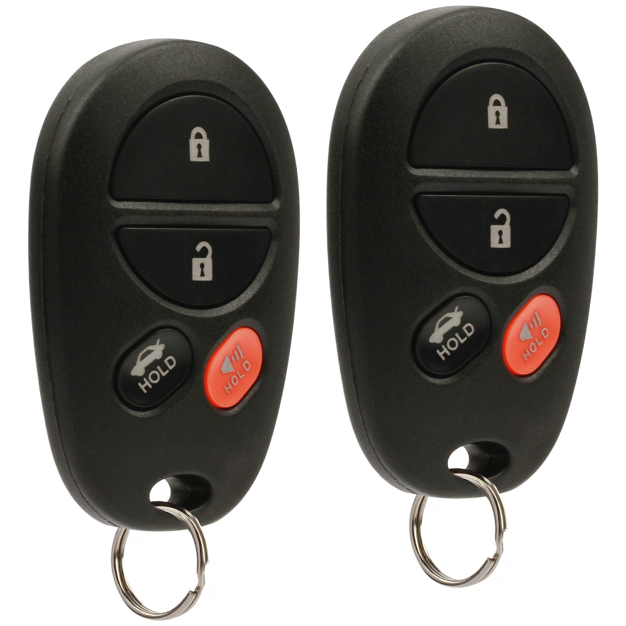 Key Fob Keyless Entry Remote fits Toyota Avalon, Solara 2005 2006 2007 2008 (GQ43VT20T 4-Btn), Set of 2 by USARemote