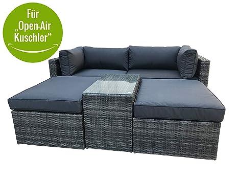 Amazonde Multifunktions Loungegruppe Gartenlounge Set Gartensofa