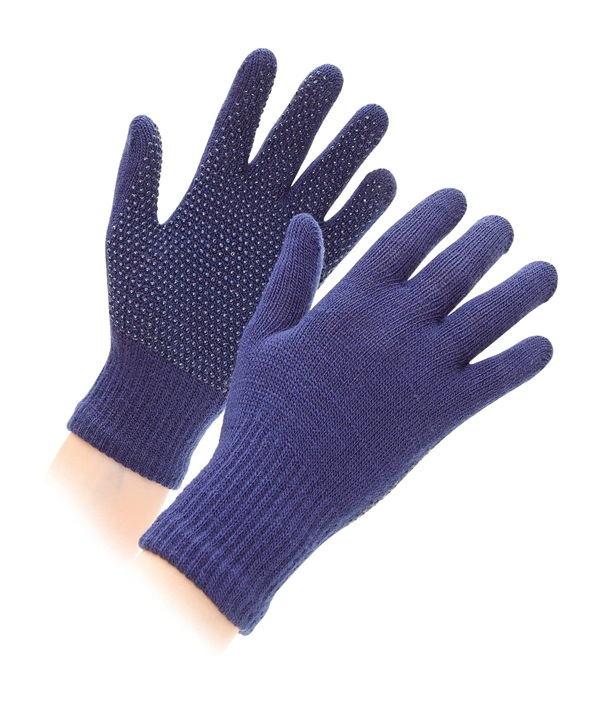 Shires Sure Grip Guanti Adulto Taglia Unica, colore: blu