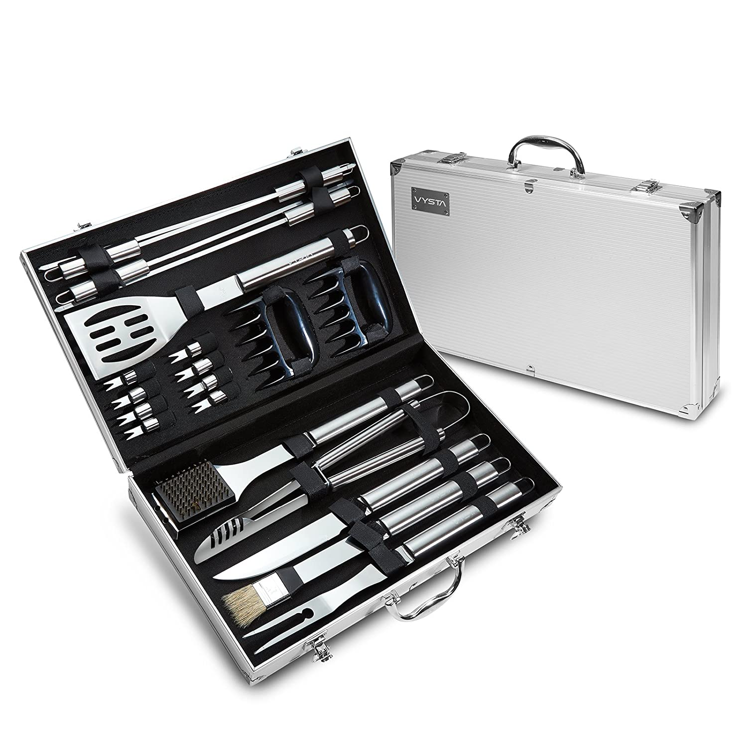 21 Piece Stainless Steel BBQ Tool Set