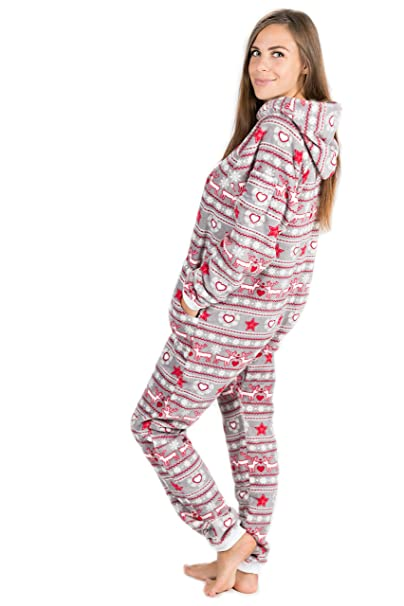 Sueño de Navidad Go-Jamz Por Kajamaz: Pijama De Una Pieza De Lana Para Mujeres, Pijama De Lana Entero: Amazon.es: Ropa y accesorios
