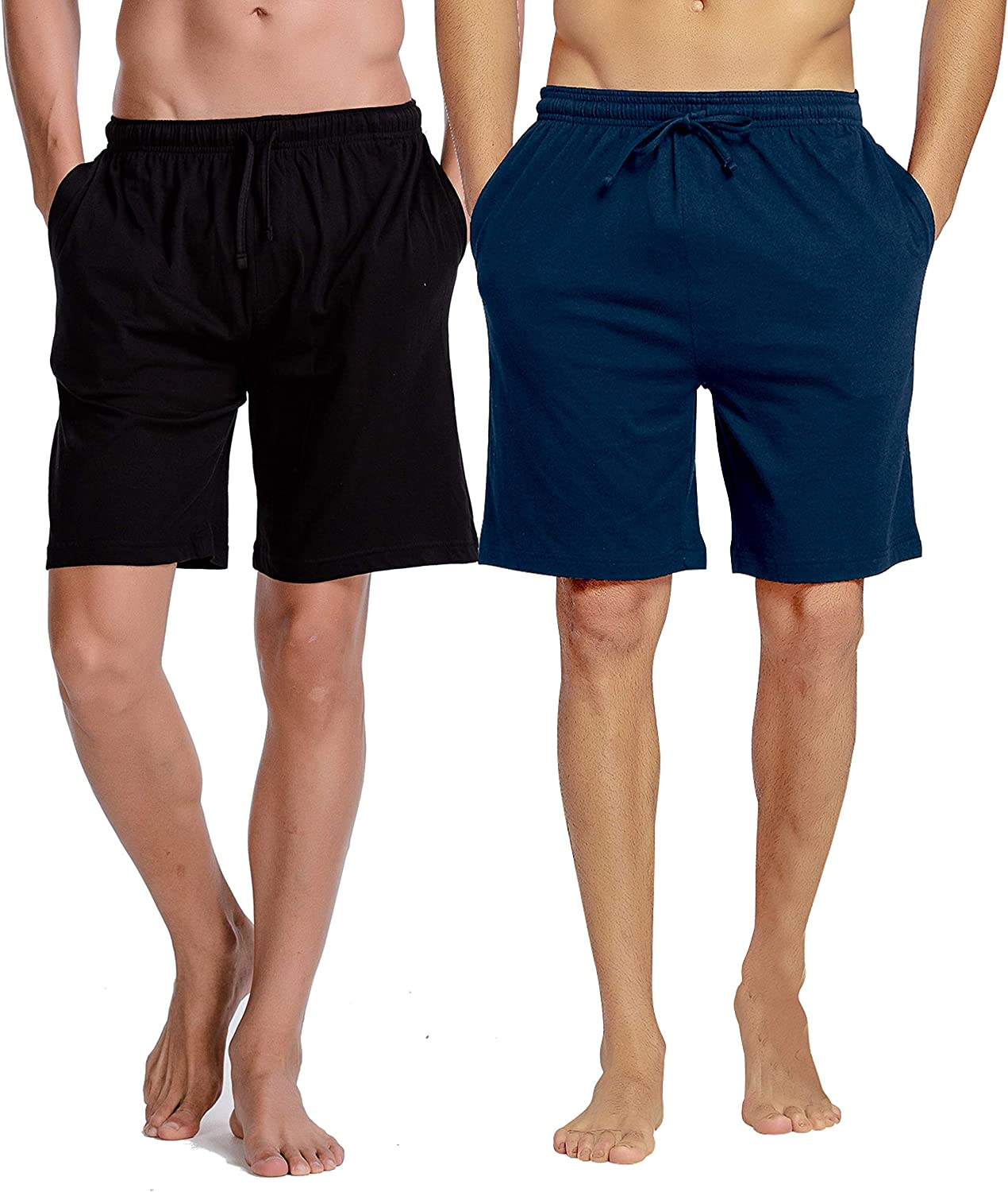 CYZ Mens Comfort Cotton Jersey Shorts with Pockets