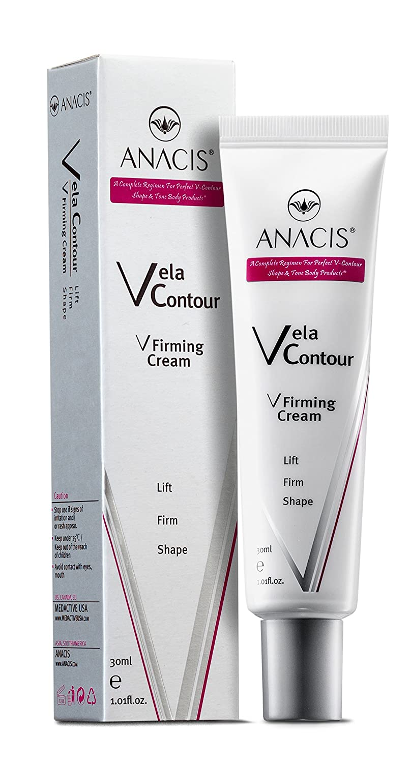 Anacis Double Chin Reducer Neck Firming Face Shaping Cream Vela Contour - 30ml