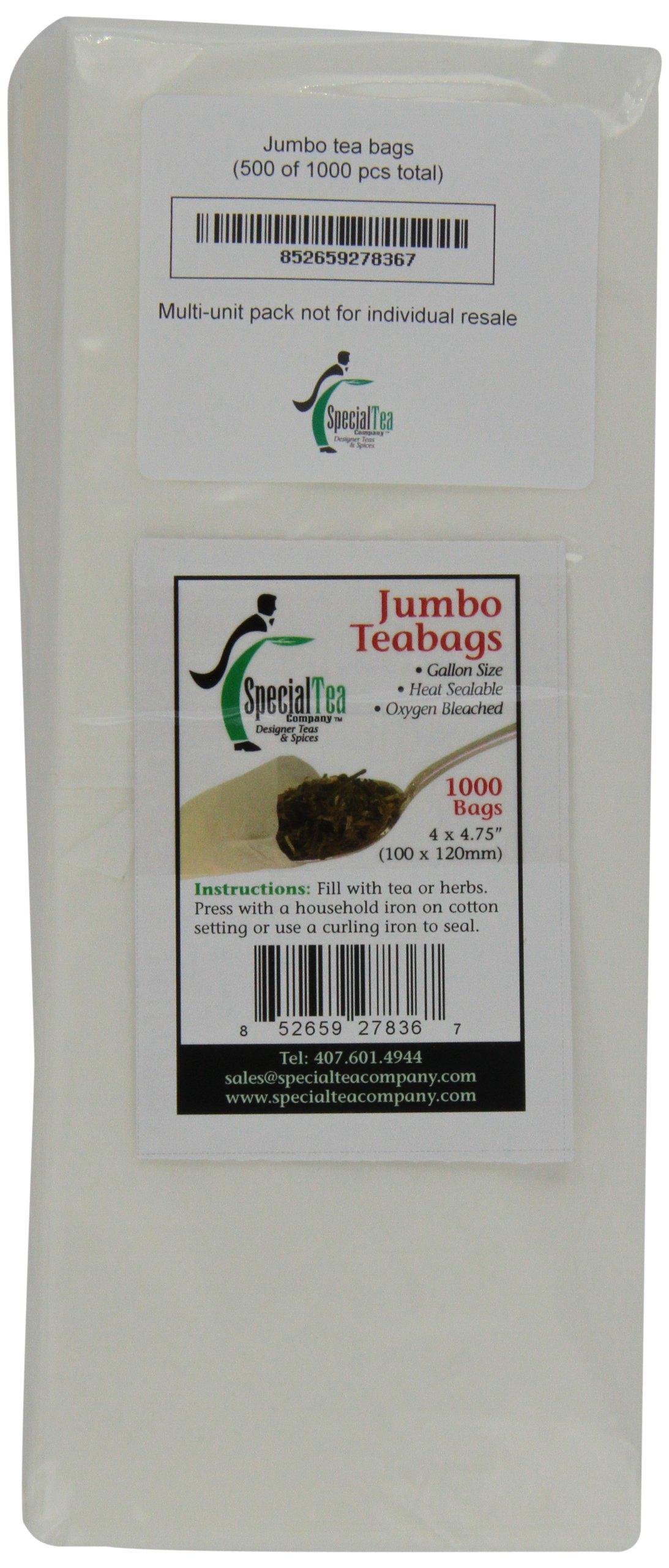 Special Tea Company 4 by 4.75-Inch 1000-Piece Empty Tea/Herb Bags, Jumbo