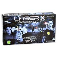 Laser X Pistola Doble (Cife 98139), Color Blanco/Gris