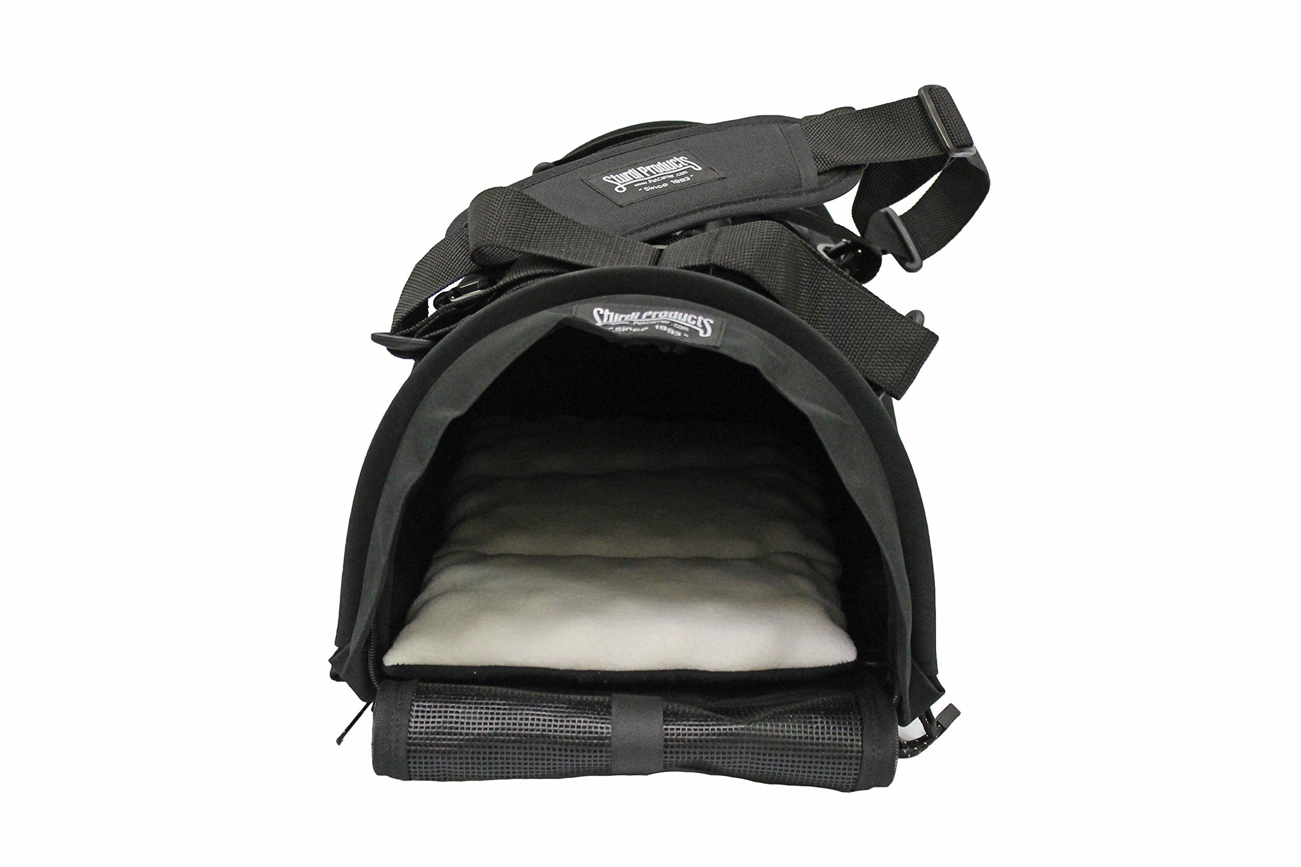 STURDI PRODUCTS Bag Pet Carrier, Small, Black by STURDI PRODUCTS
