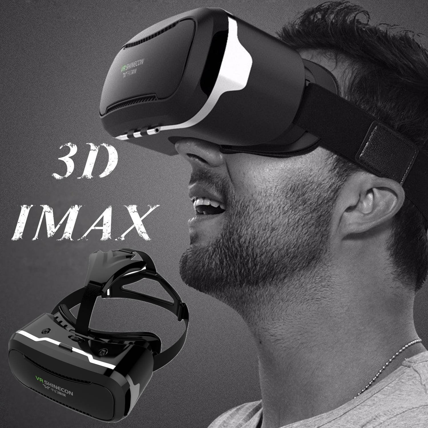 3D VR Goggles/Headset, Virtual Reality Glasses for [3D IMAX] Movies Videos Games, Phone Box 360 Viewer for IOS iPhone 8 7 6S 6 Plus Android Samsung S8 S7 S6 Edge PC LG & Other 4.5''-6.0'' Smartphones by TSANGLIGHT