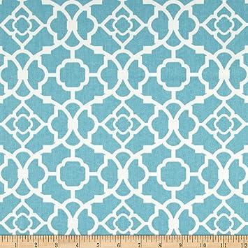Amazoncom Waverly Lovely Lattice Aqua Fabric By The Yard