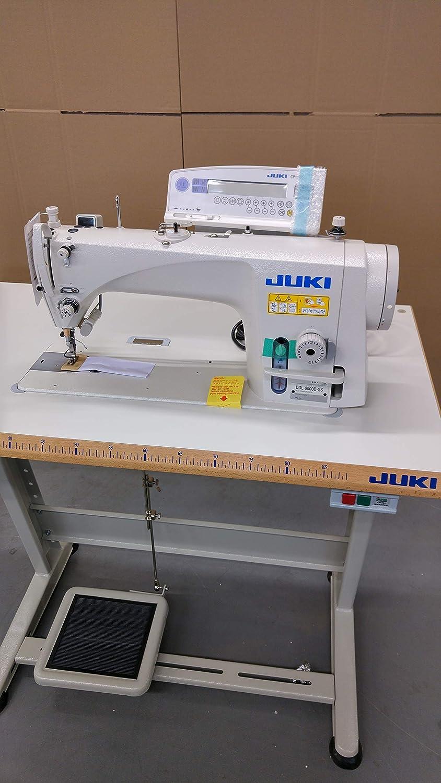 JUKI Máquina de Coser Industrial DDL 9000BSS, cortadora de Hilos, Totalmente automática, máquina de Coser Industrial, Completa (con Mesa y Soporte)