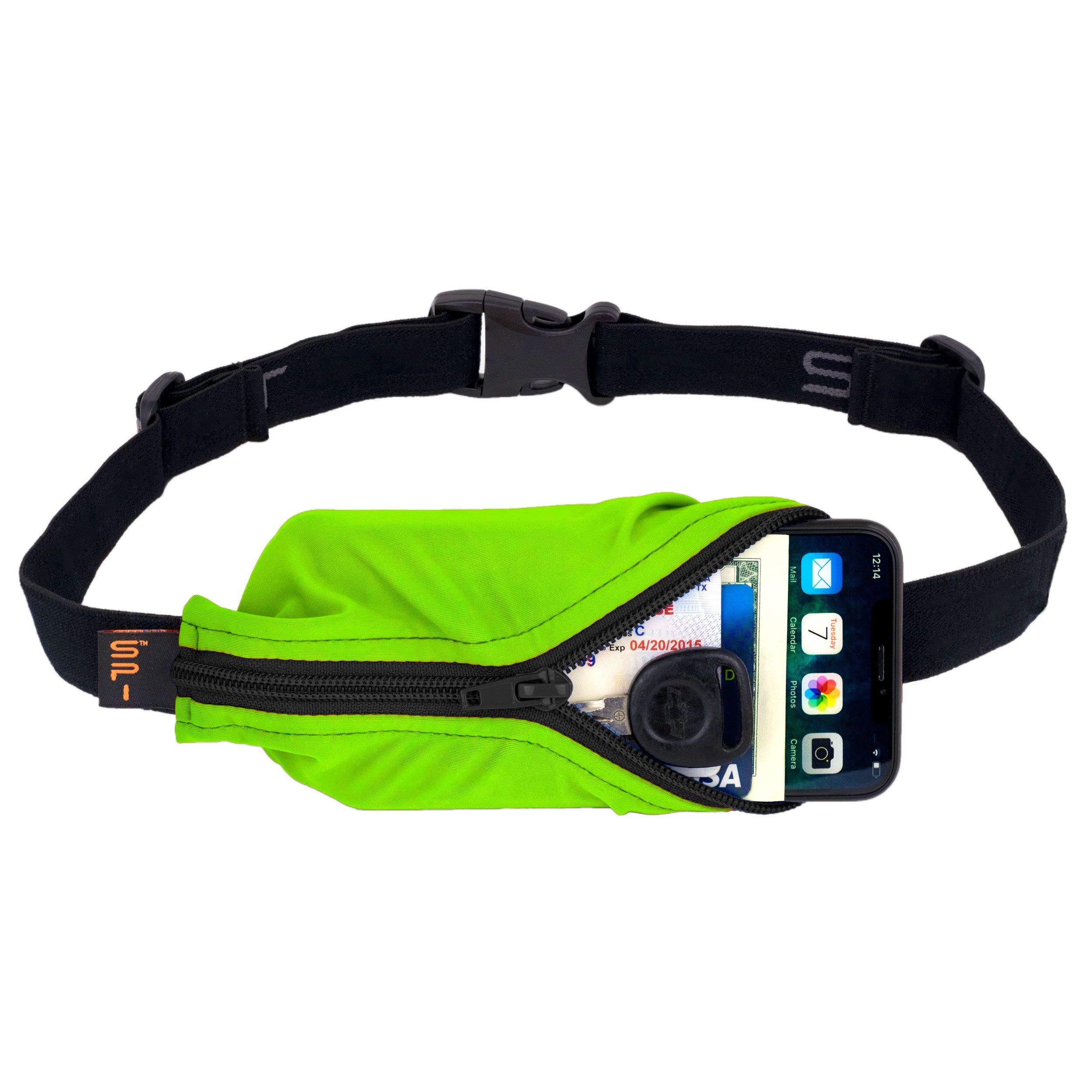 SPIbelt Sports/Running Belt: Original - No-Bounce Running Belt for Runners, Athletes and Adventurers - Fits iPhone 6 and Other Large Phones, Lime by SPIbelt