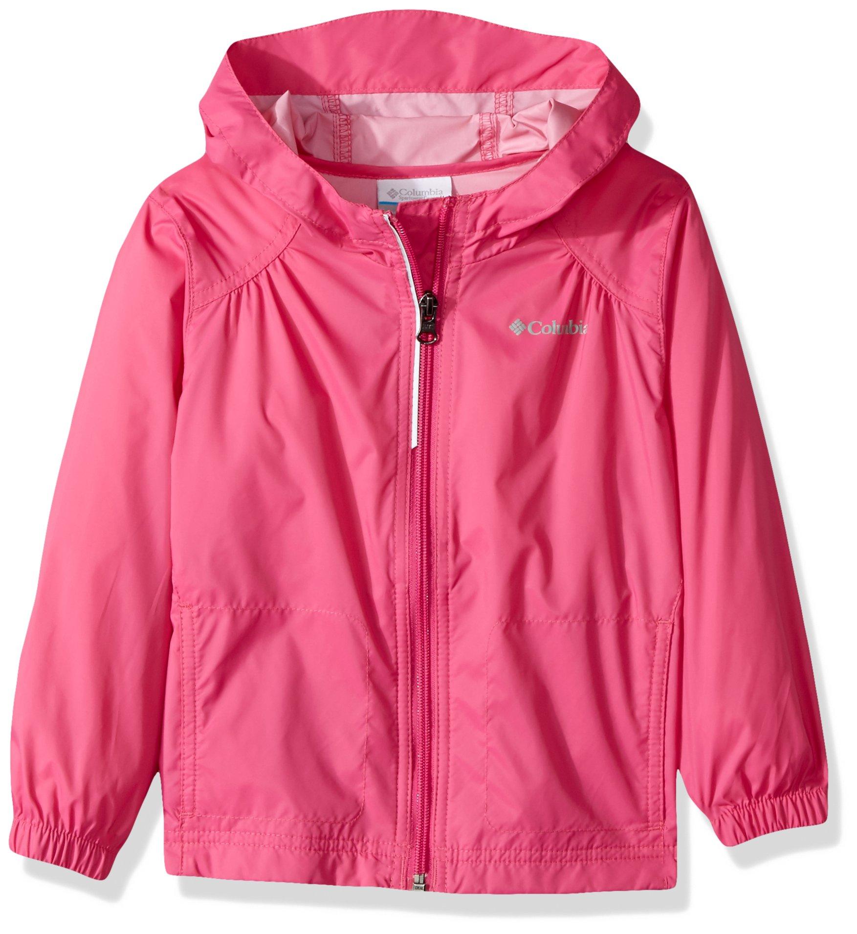 Columbia Big Girl's Switchback Rain Jacket, Pink Ice, M by Columbia