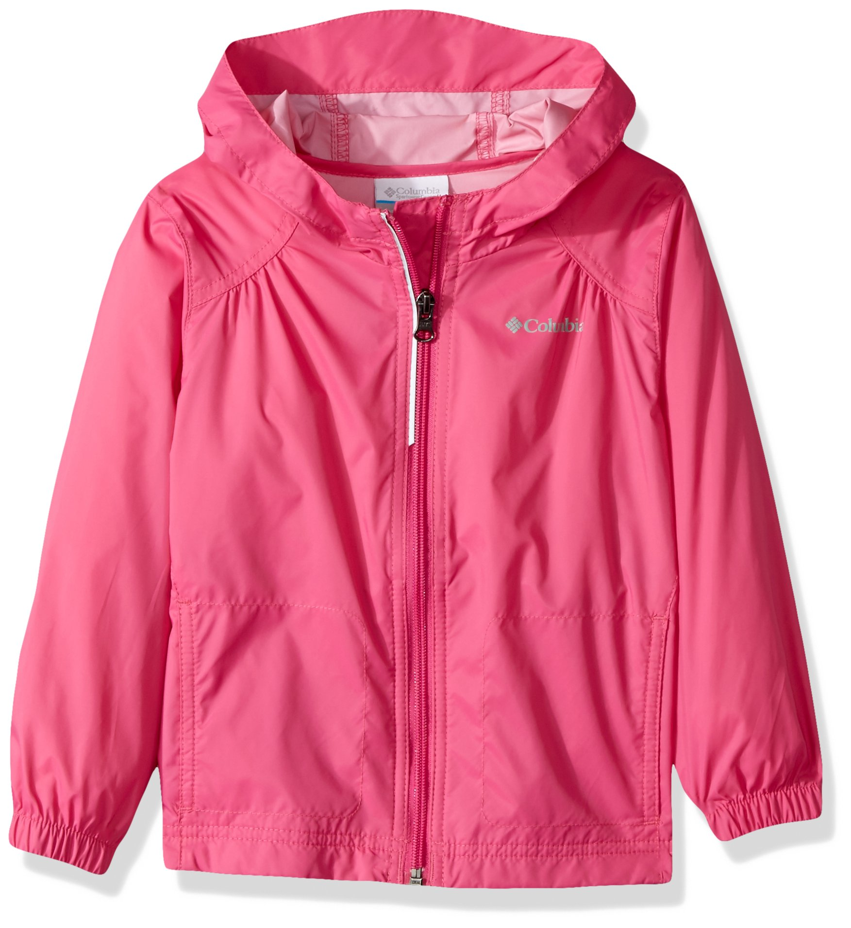 Columbia Little Girl's Switchback Rain Jacket, Pink Ice, S