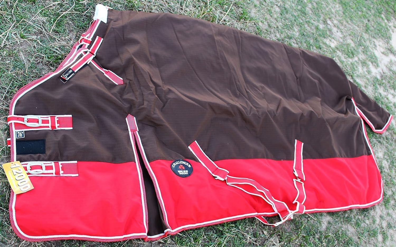 CHALLENGER 82  1200D Turnout Waterproof Horse Winter Blanket Heavy Brown 578G