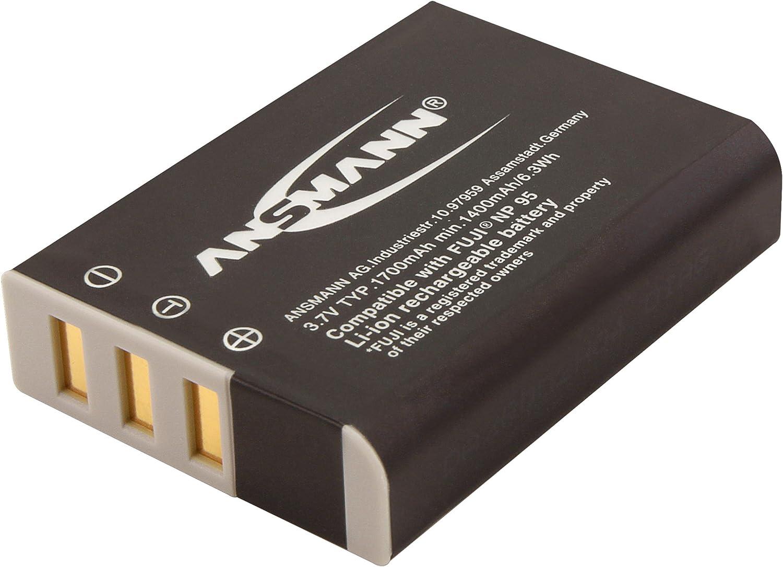 A-Fuj NP W 126 Li-Ion Ansmann 1400-0029 bater/ía 7,4V//1020mAh para c/ámara digital de fotos Fuji