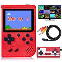 Handheld Game Console for Kids Adults, Retro Mini Game Player with 800 Classic FC Games 3.0 inch Color Screen 1020mAh Rechargeable Battery, Support TV Connection & Two Player, Gift Toys for Boys Girls