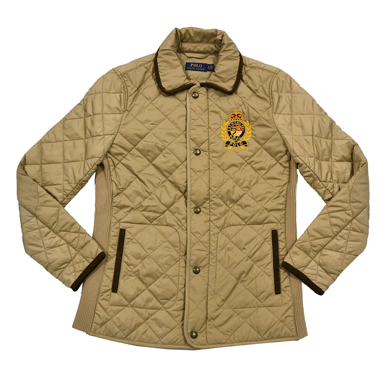 best place good looking sneakers for cheap Ralph Lauren Womens Quilted Puffer Jacket (S, Polo Tan) at ...