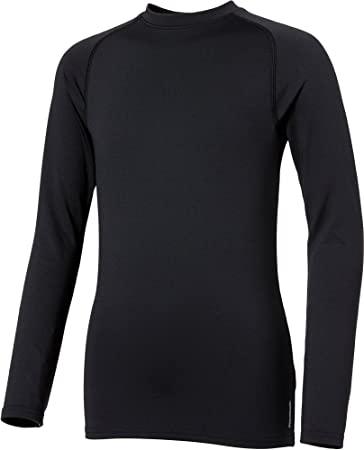 Reebok Boys' Cold Weather Compression Crewneck Long Sleeve Shirt (Caviar,  ...