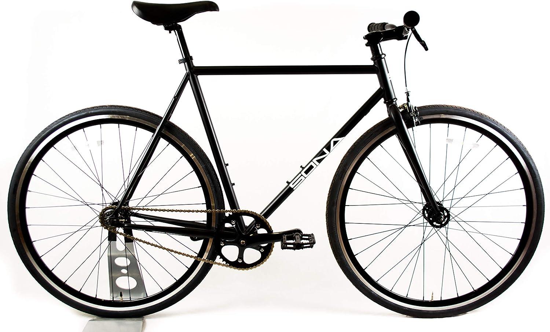 Sona - Bicicleta Fija de una Sola Velocidad, 58 cm, Color Negro Mate, diseñada y construida a Mano en Dublín, Rueda Fija y Rueda Libre: Amazon.es: Deportes y aire libre