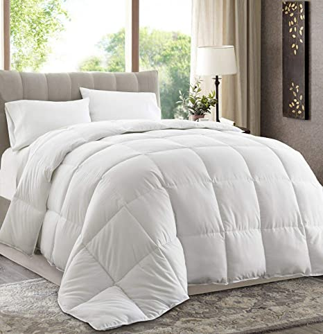 Chezmoi Collection 3-Piece Ultra Soft Down Alternative Comforter Set Light Gray