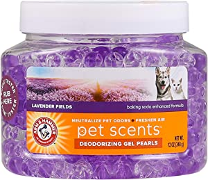 Arm & Hammer Air Care Pet Scents Deodorizing Gel Beads in Lavender Fields | 12 oz Pet Odor Neutralizing Gel Beads with Baking Soda | Air Freshener Beads for Pet Odor Elimination