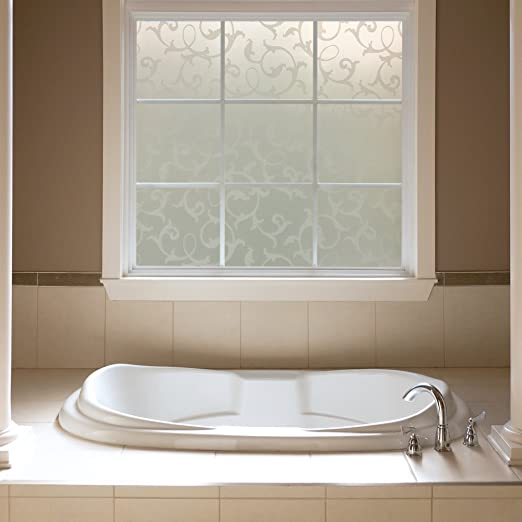 Amazon.com: Gila 10341534 Privacy Frosted Botanical Static Cling Window  Film 36