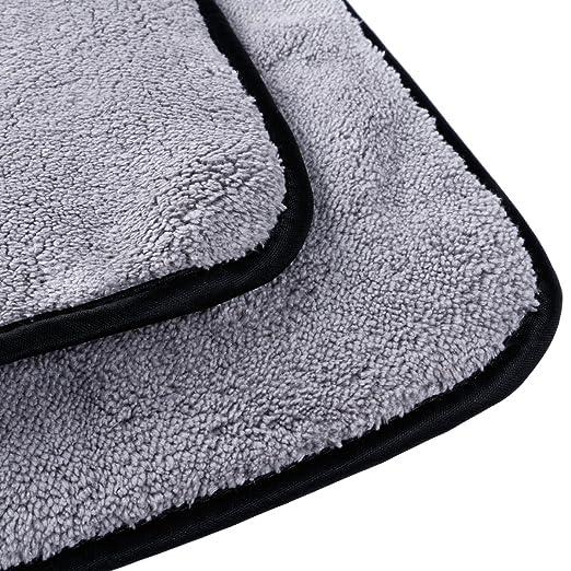 multiusos encerado Limpieza de secado r/ápido 40 x 40 cm Dise/ño ultrasuave y grueso de microfibra pulido Gamuza para limpieza de coche