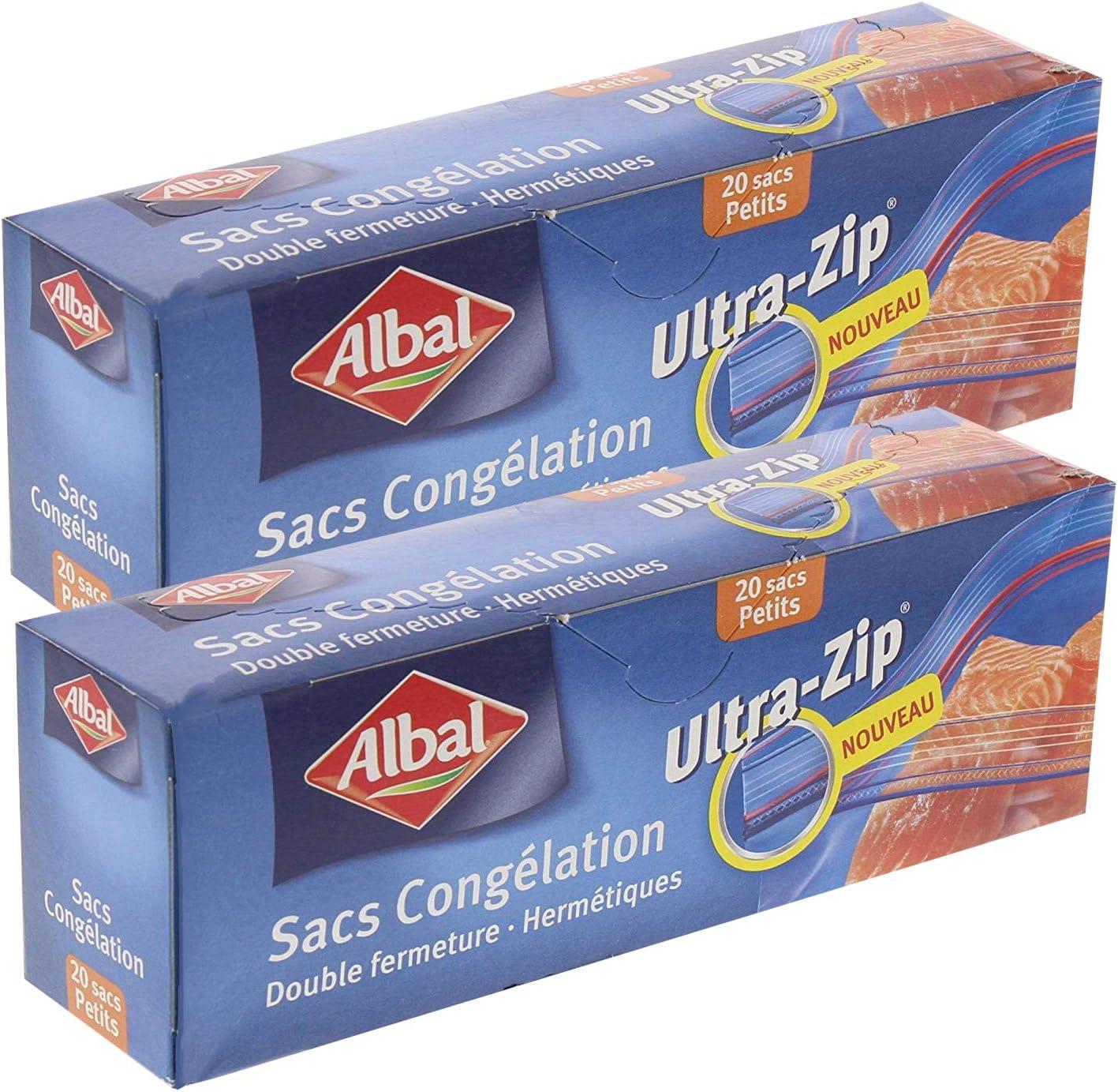 Albal - Bolsas congelador, pequeño (2 paquetes de 20 cada uno ...