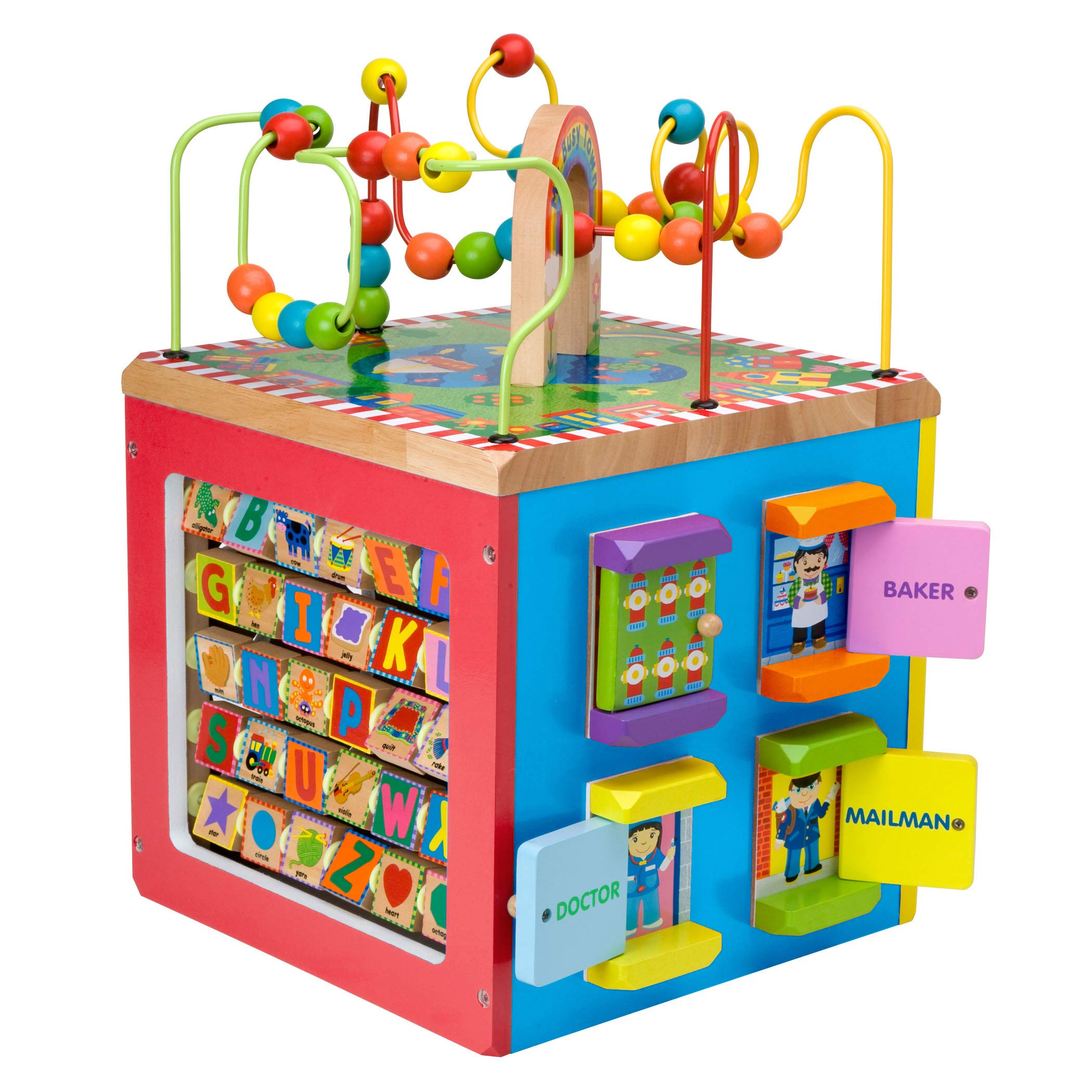 ALEX Discover My Busy Town Wooden Activity Cube by ALEX Toys (Image #4)